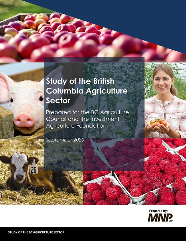Economic Impact Study of the BC Agriculture Cover Page